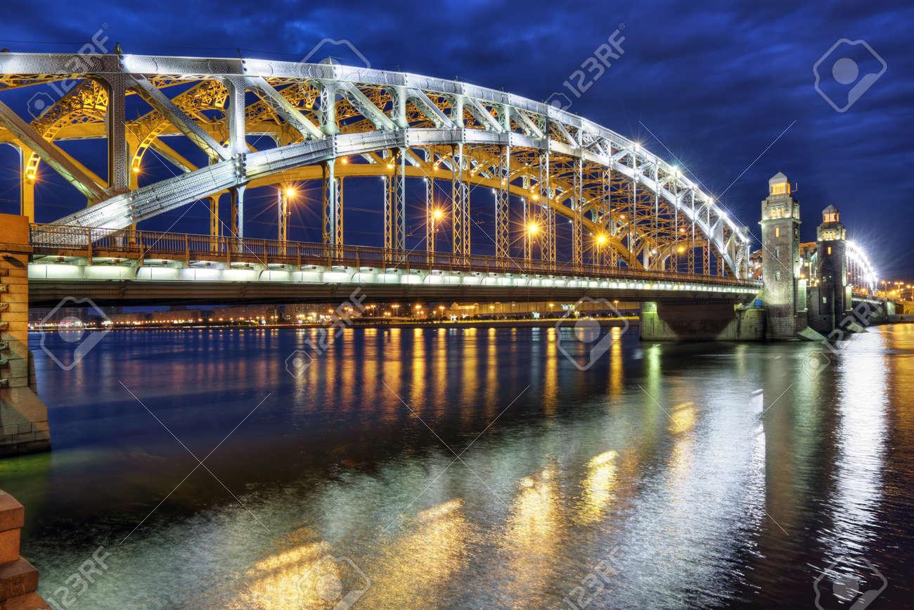 Bolsheokhtinsky Bridge in St. Petersburg: its history and photo 71