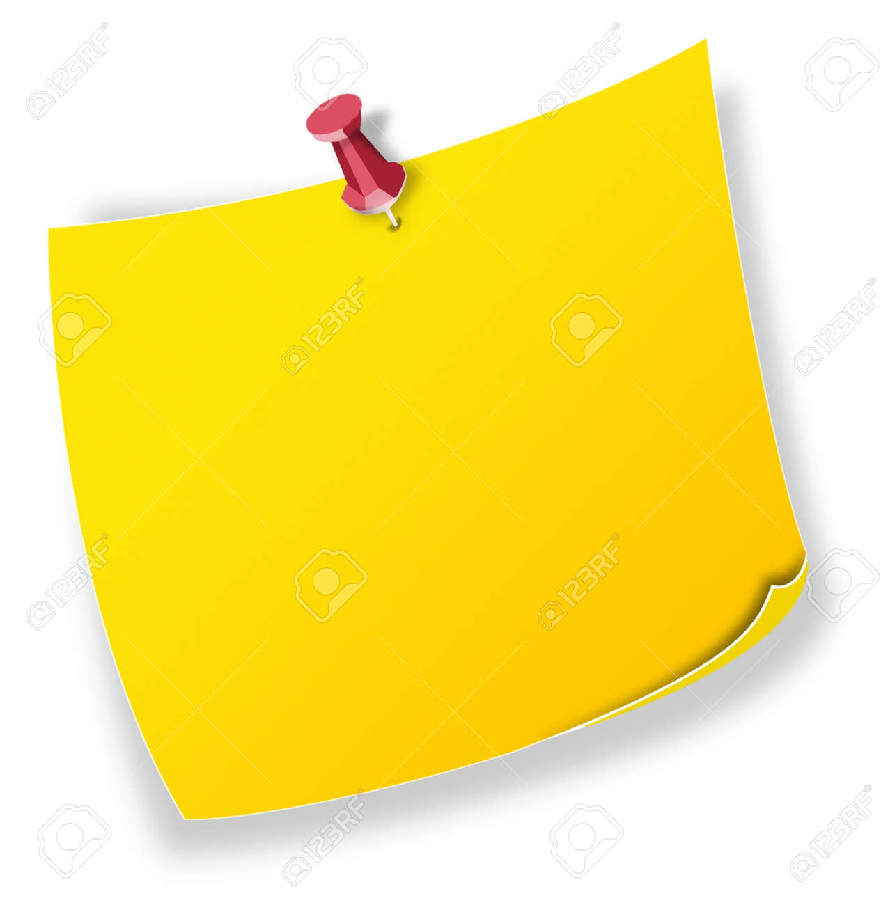 Posit, note yellow Stock Photo - 7694304