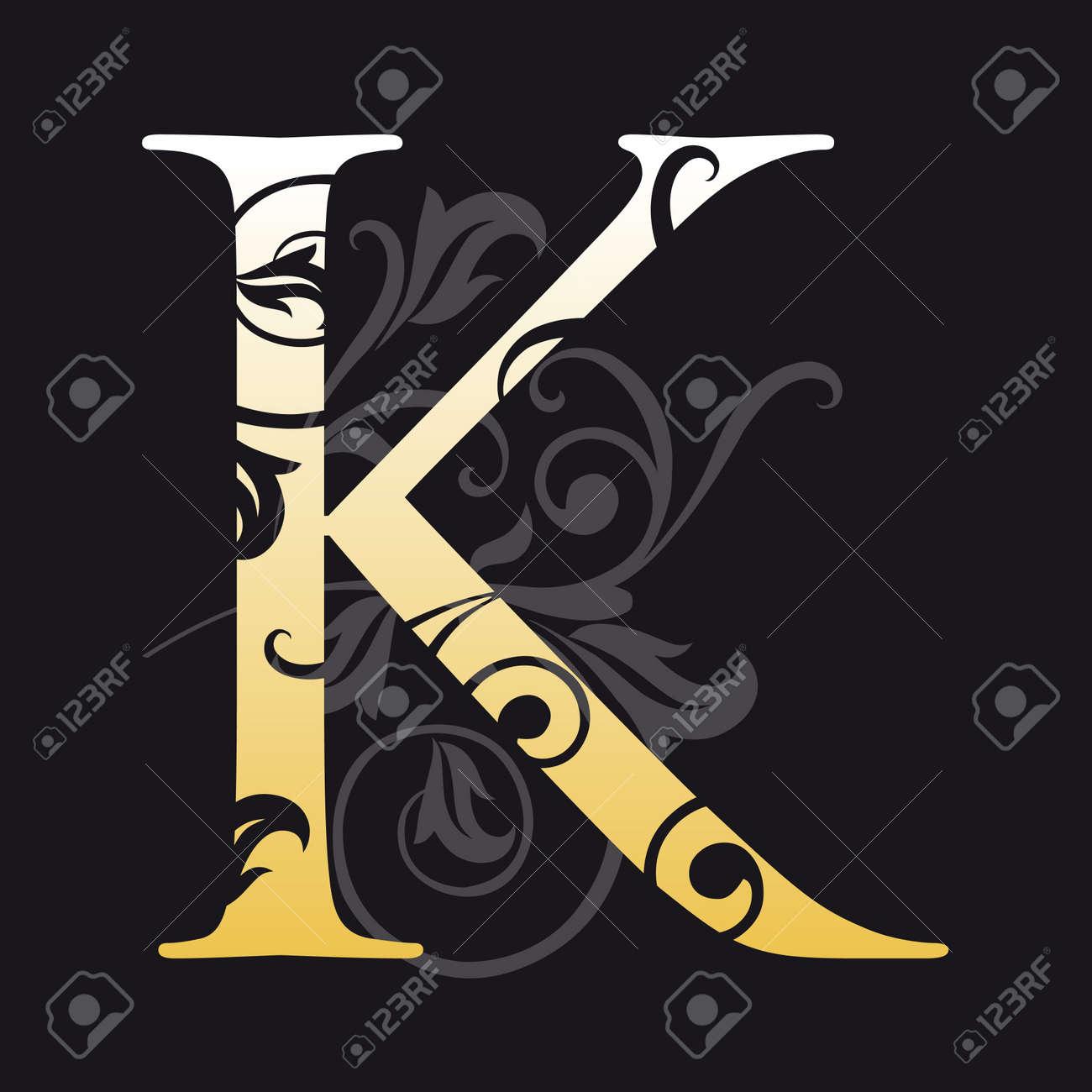 letter k, typography Stock Vector - 7694393