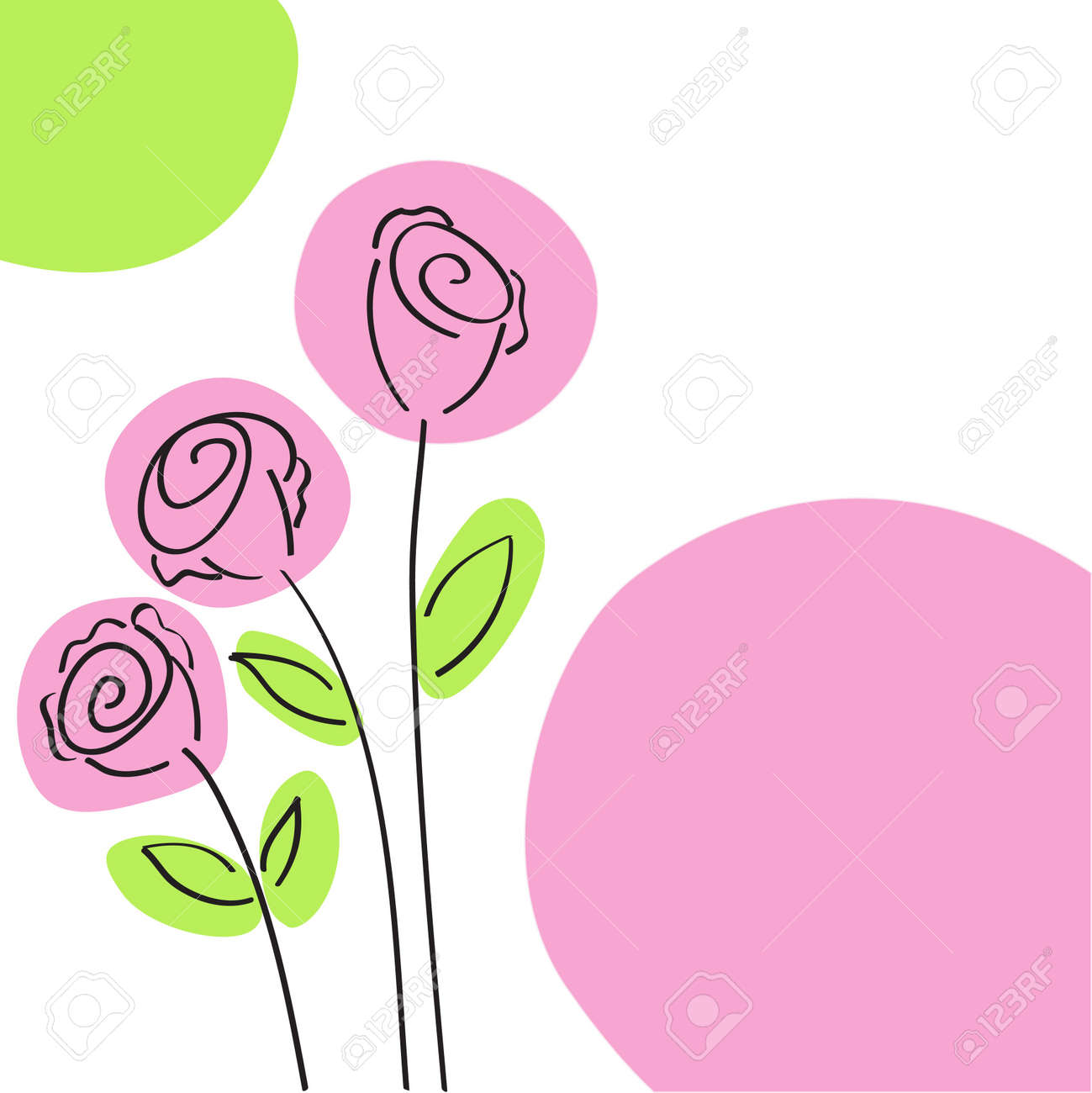 Roses Card Stock Vector - 7734458