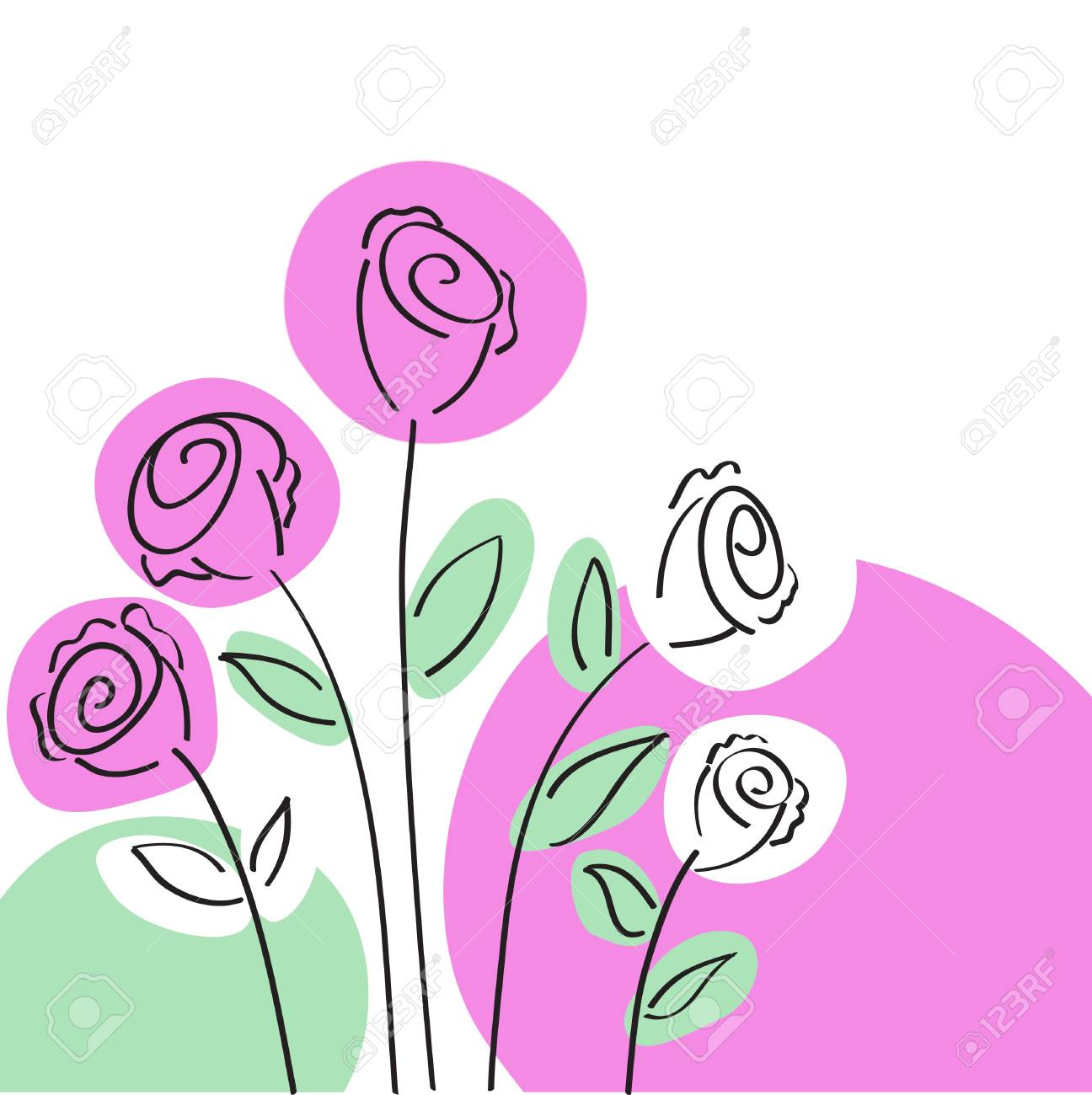 Roses Card Stock Vector - 7734484