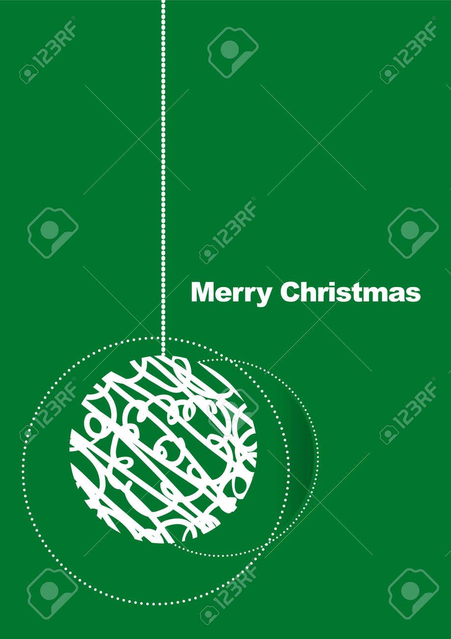 Card Christmas ball Stock Vector - 7734533