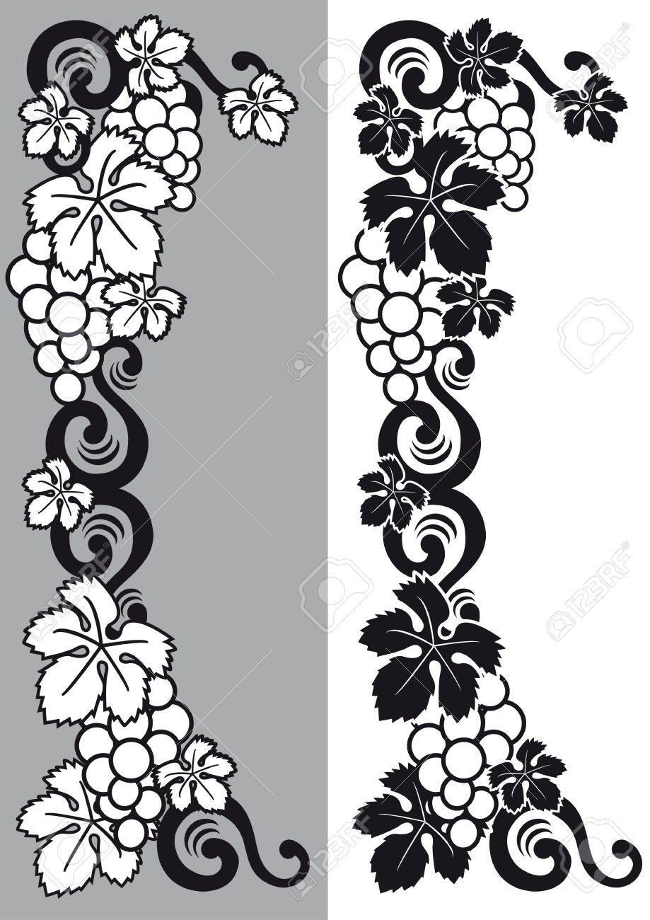 decorative grapes Stock Vector - 7796245