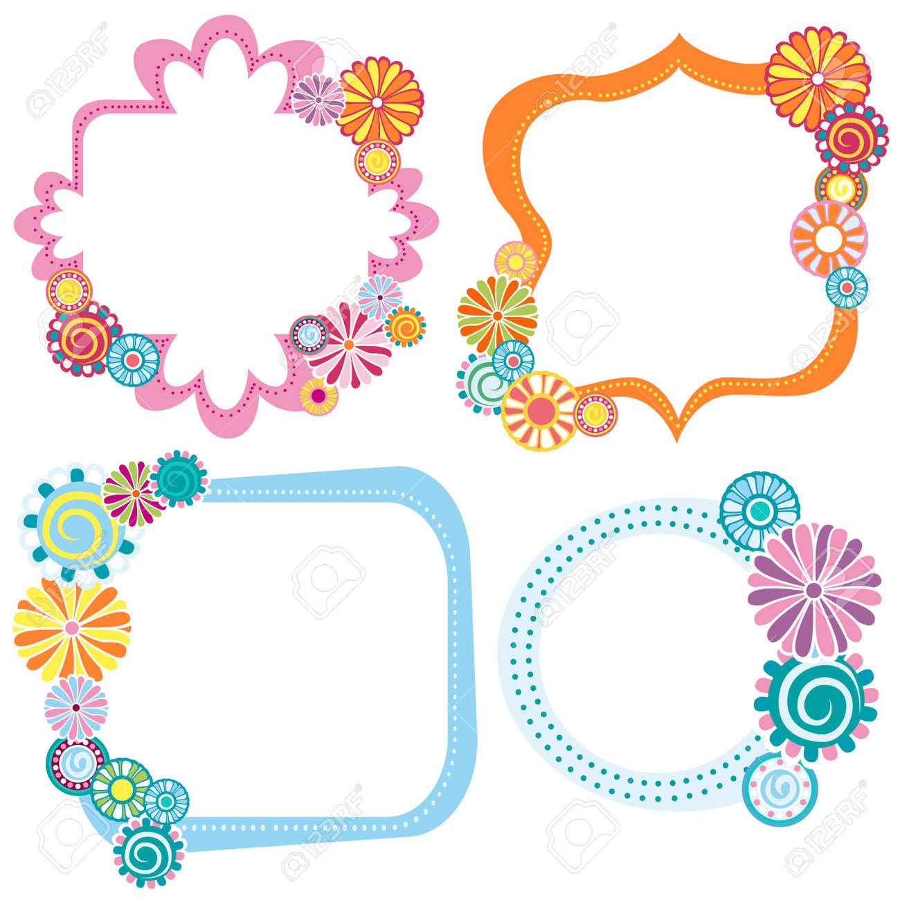 labels with flowers Stock Vector - 7796258