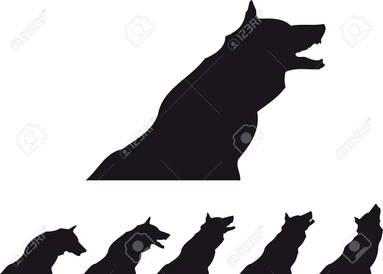 wolf silhouette stock vector 7796206