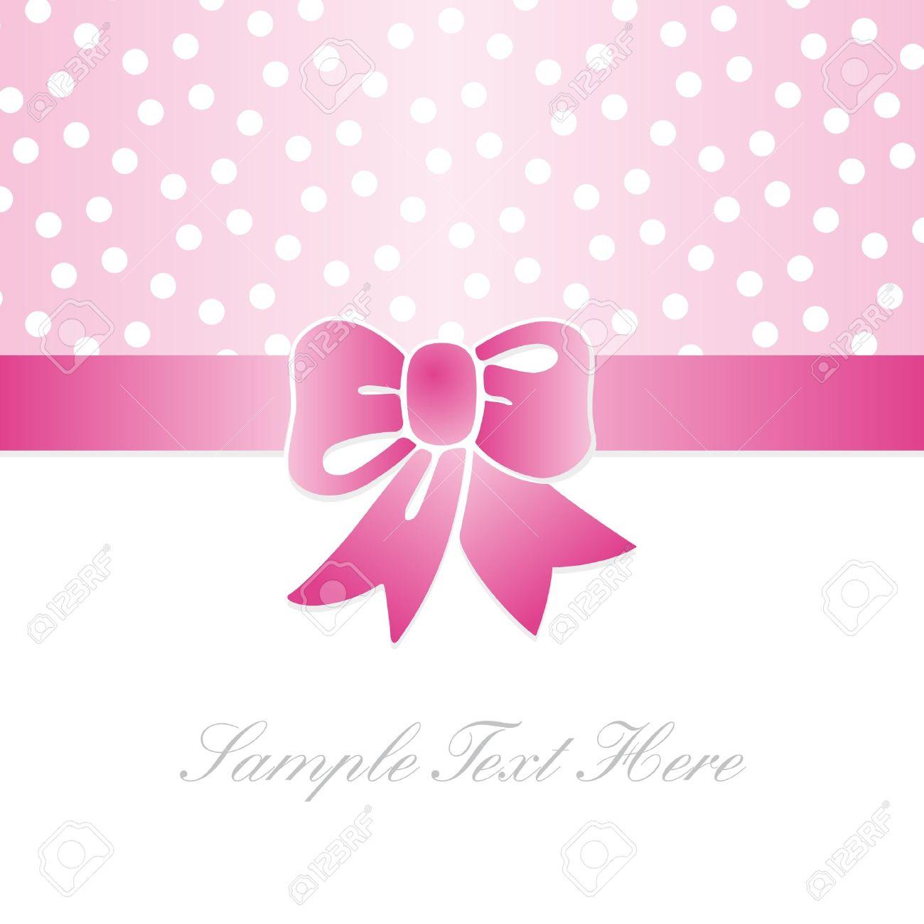 gift card with pink polka dots royalty free cliparts vectors and