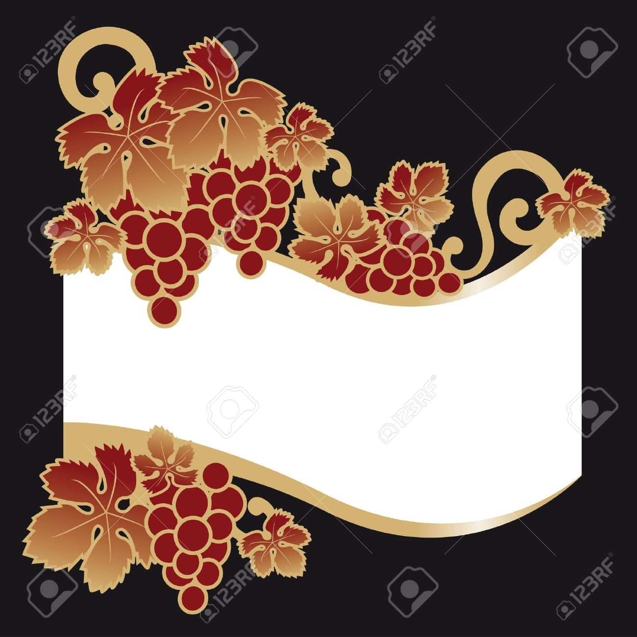 wine label grapes Stock Vector - 7879027