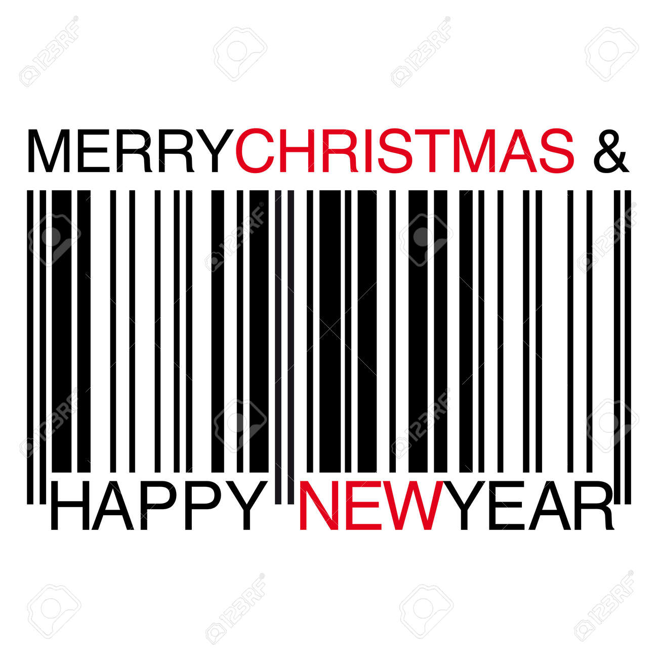Christmas barcode Stock Vector - 7879058