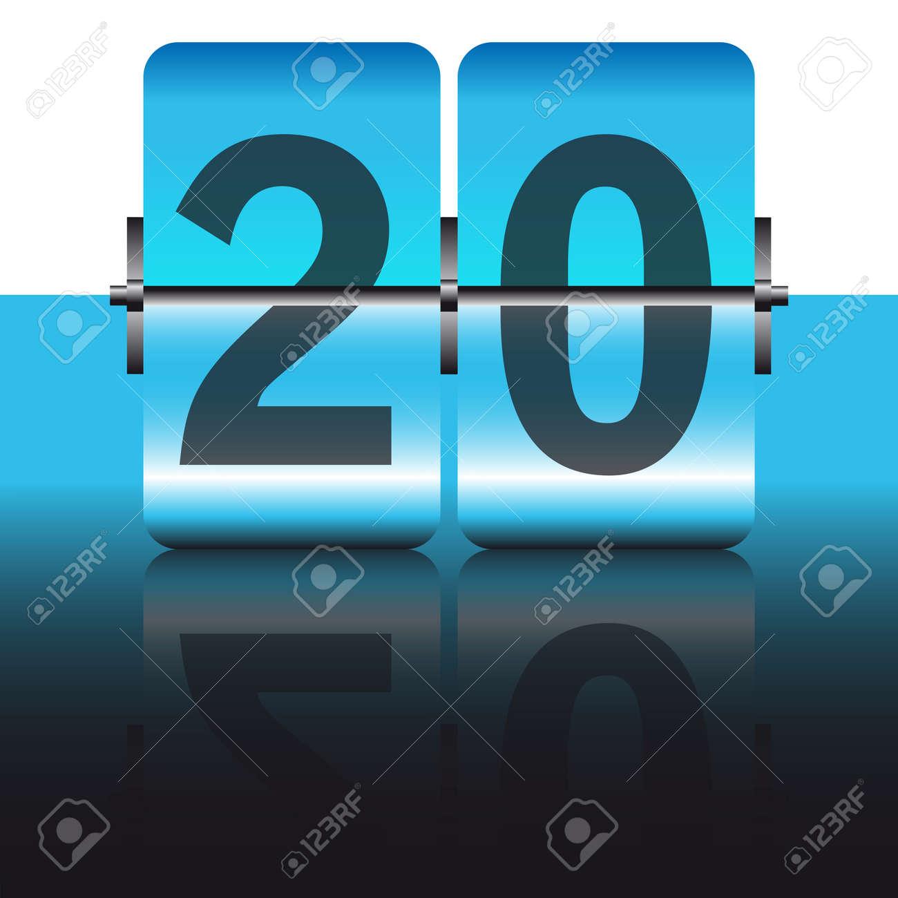 blue twenty card Stock Vector - 7933698