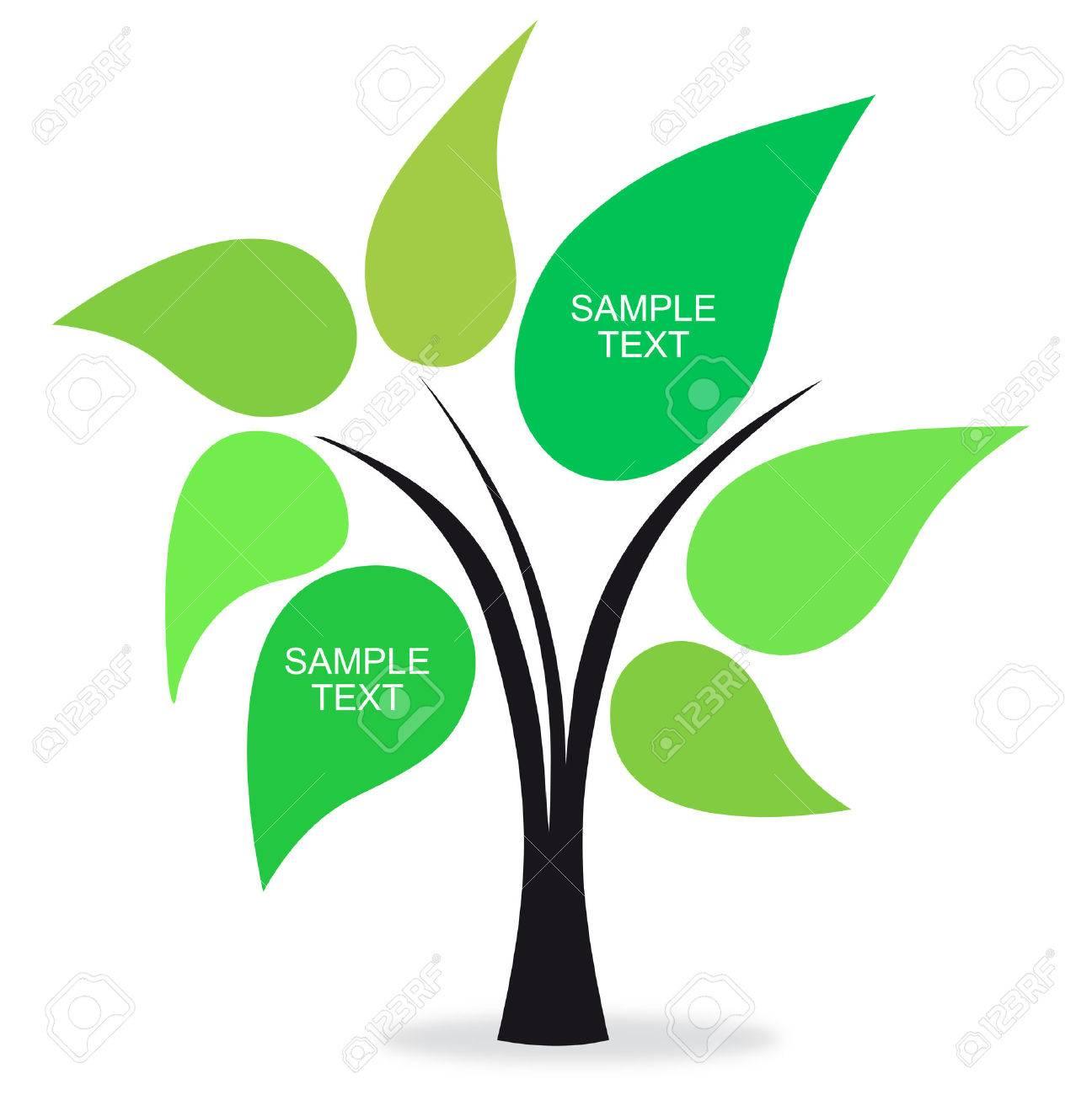 text green tree Stock Vector - 8115805