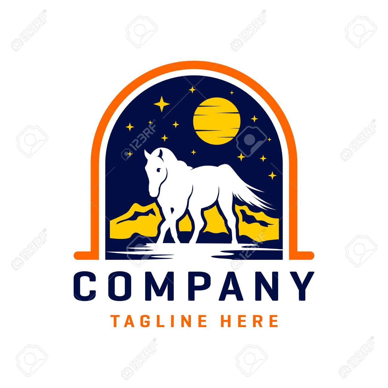 Wild Horse Logo Design Template Royalty Free Cliparts Vectors And Stock Illustration Image 143745677