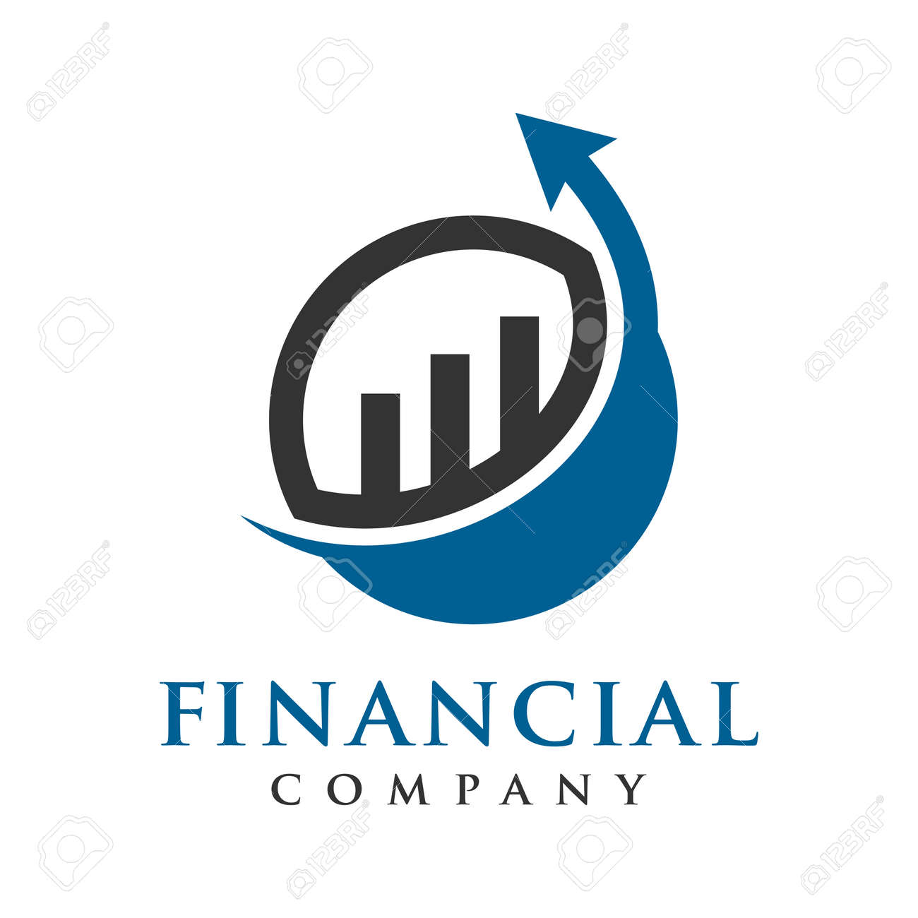 marketing and financial business logo design - 143872826