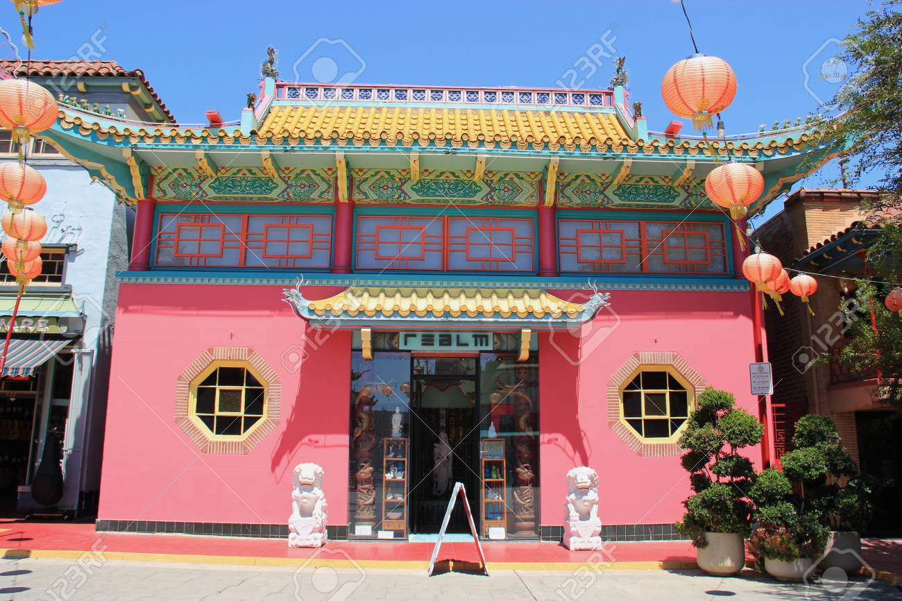 los angeles california usa august 14 2015 new chinatown