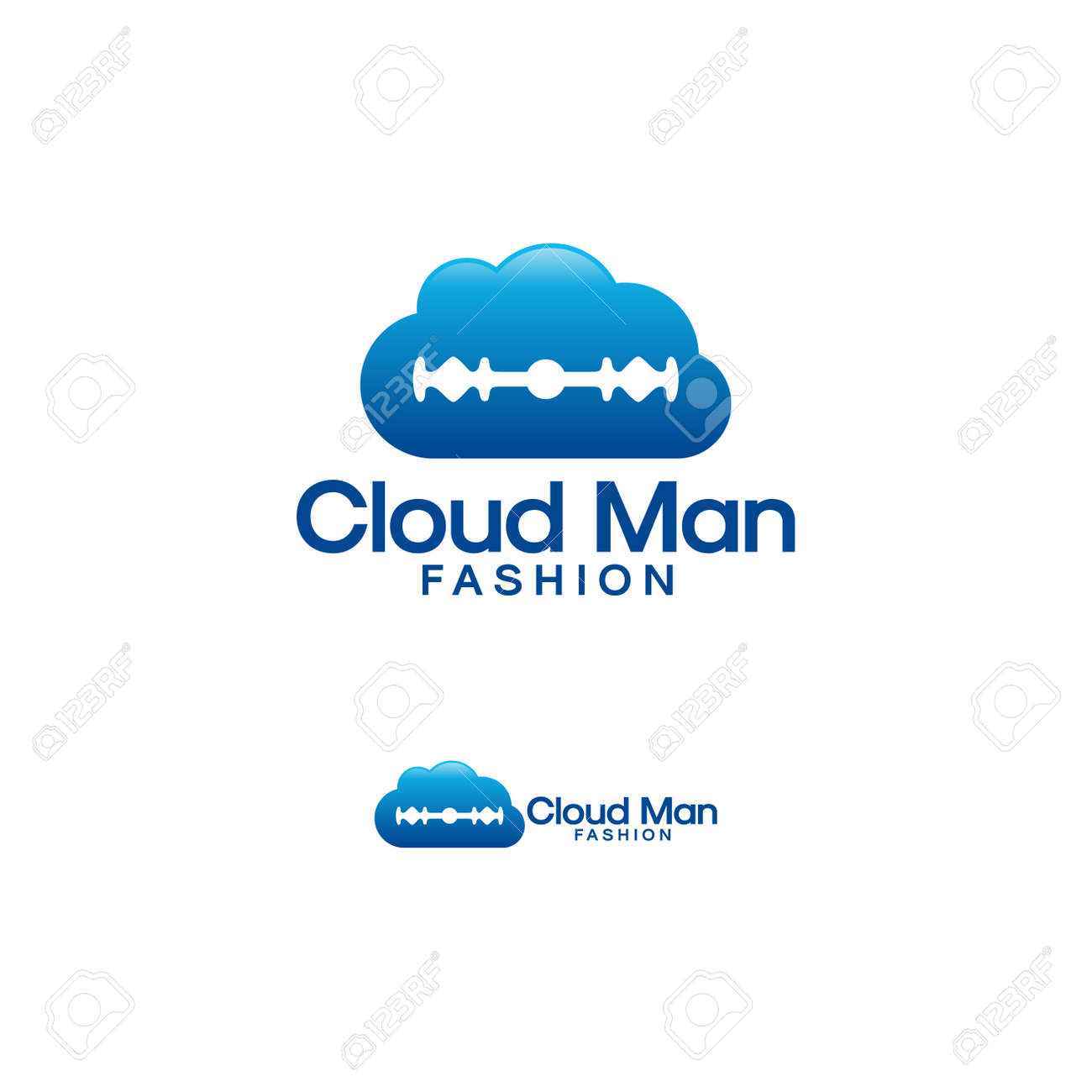 Cloud Man Fashion Logo Designs Online Man Fashion Logo Template Royalty Free Cliparts Vectors And Stock Illustration Image 138534764