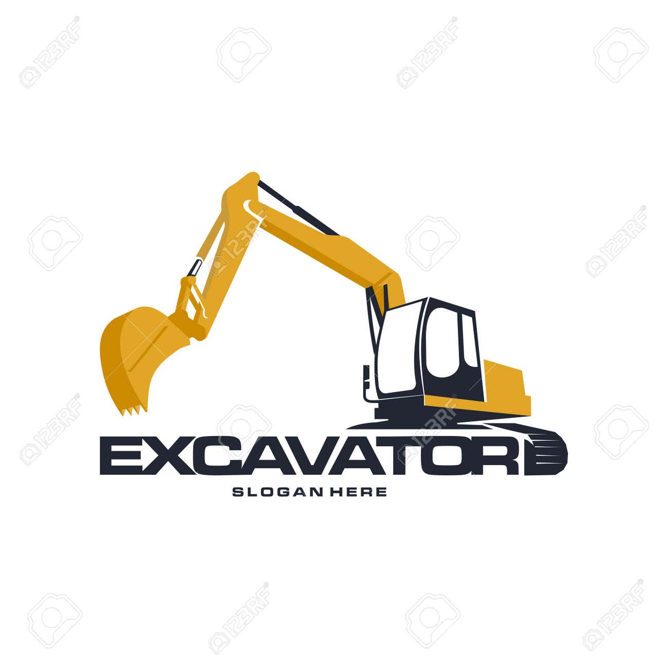 Excavator logo designs concept vector illustration - 140281253