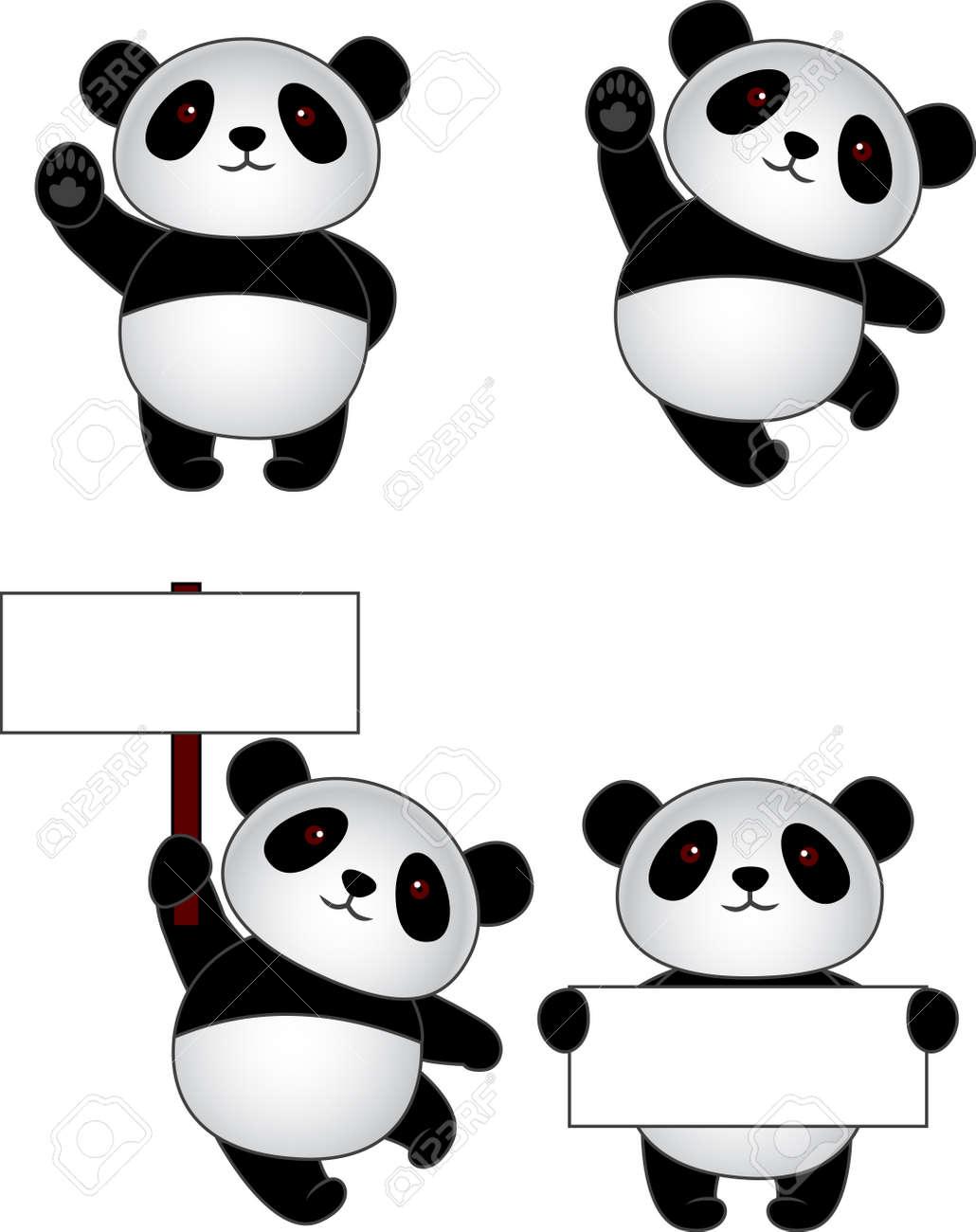 写真素材 , 面白いパンダ漫画