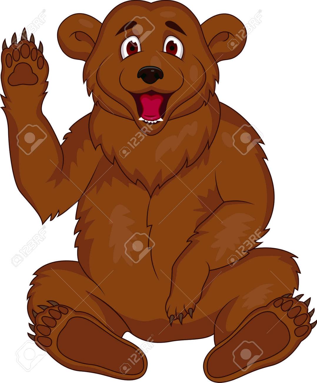 Vector illustration of brown bear cartoon Stock Vector - 13394024