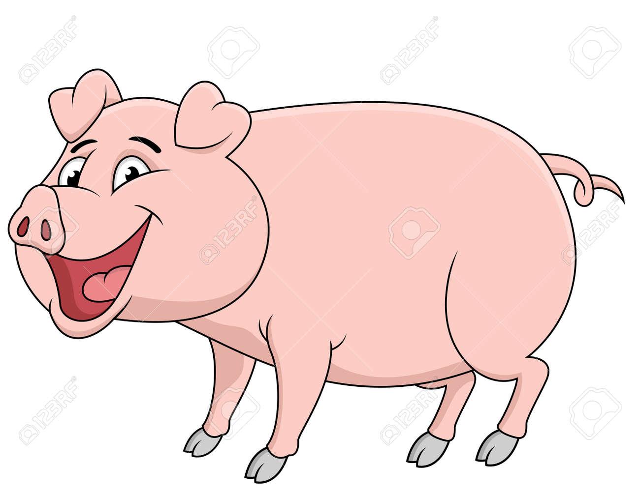 Pig cartoon Stock Vector - 13393573