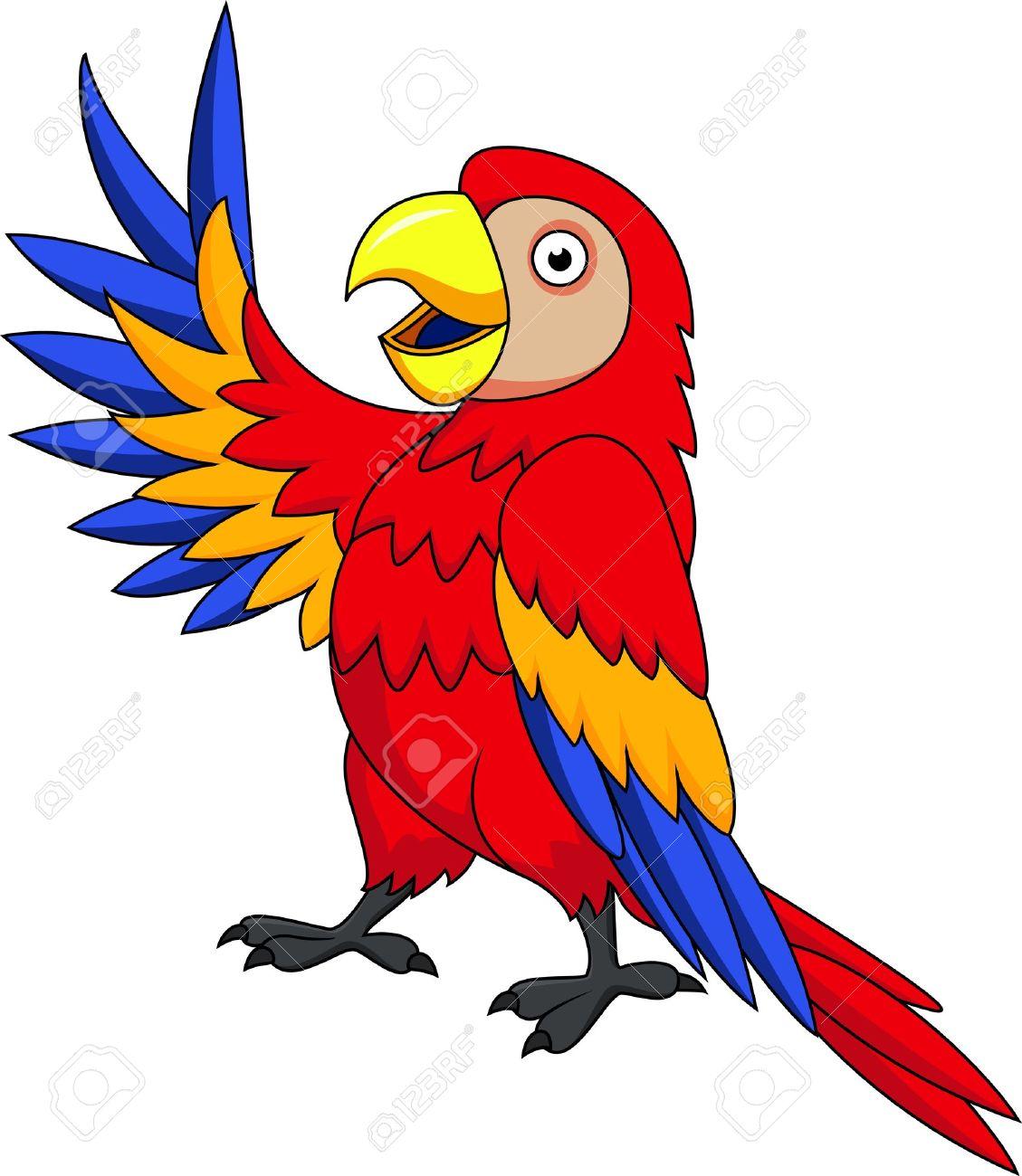Macaw bird cartoon Stock Vector - 13393587