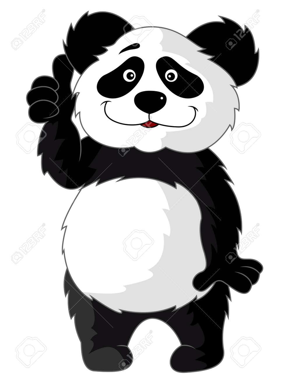 Panda cartoon with thumb up Stock Vector - 13393575