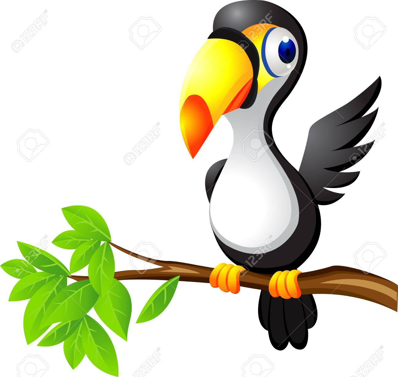 Tucán De Dibujos Animados De Aves Ilustraciones Vectoriales, Clip ...