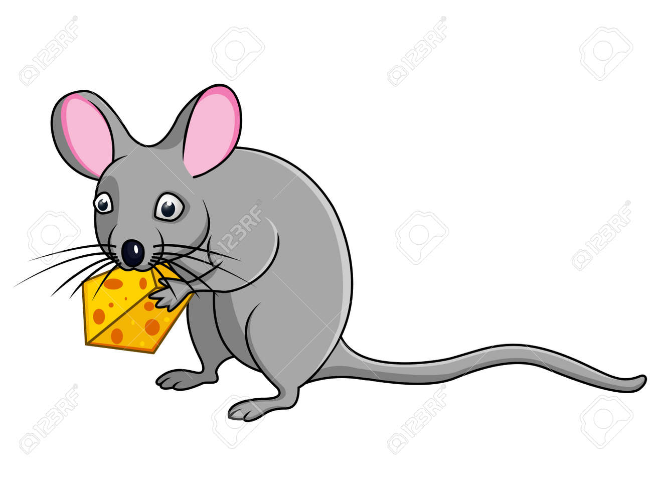 rat with cheese Stock Vector - 13393572