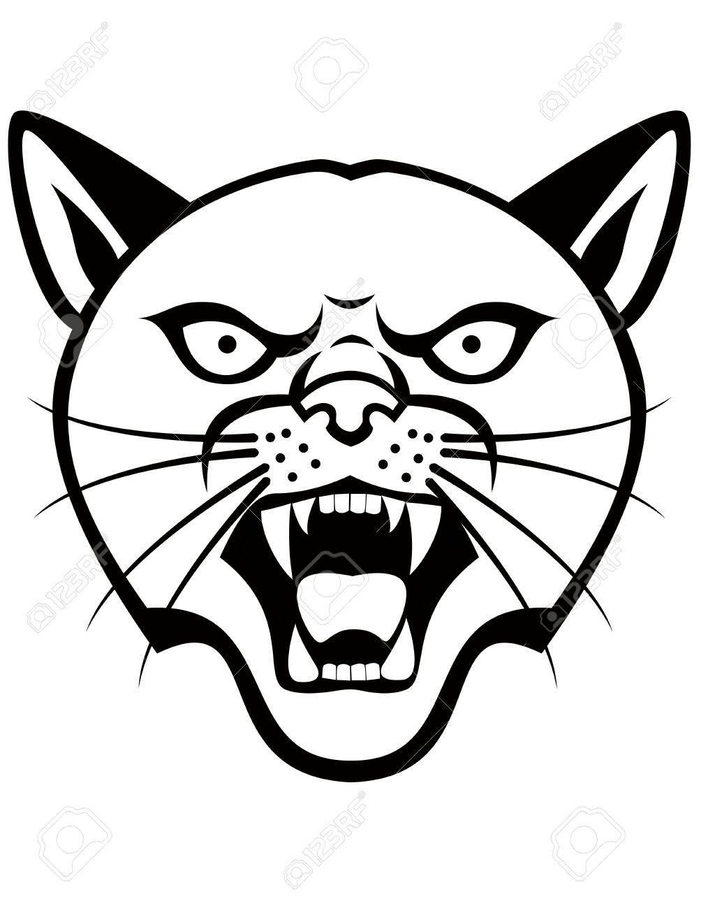Panther head tattoo  cartoon   Panther Face