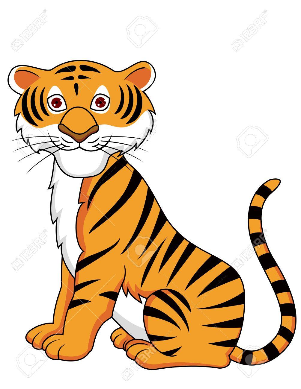 Tiger cartoon Stock Vector - 13446433