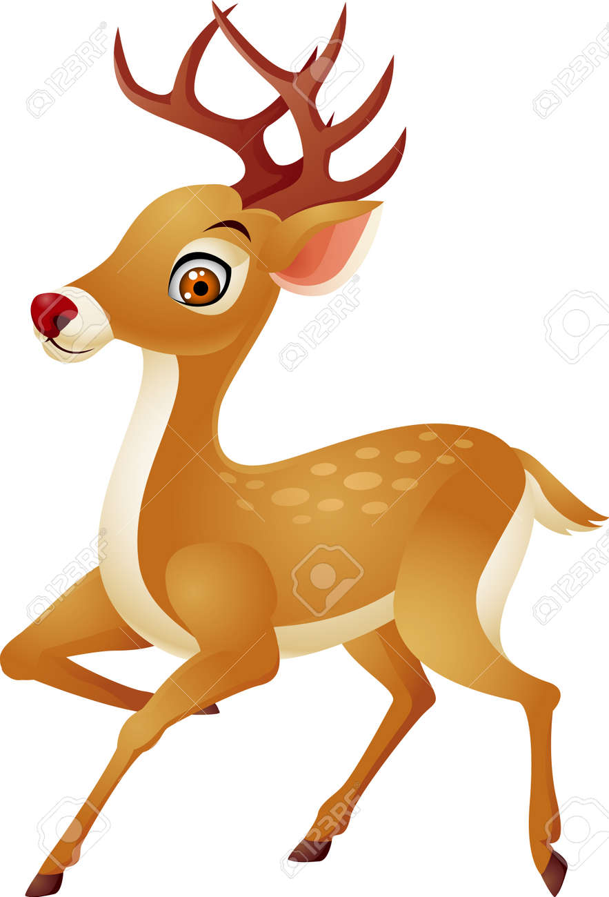 Deer cartoon Stock Vector - 13496456