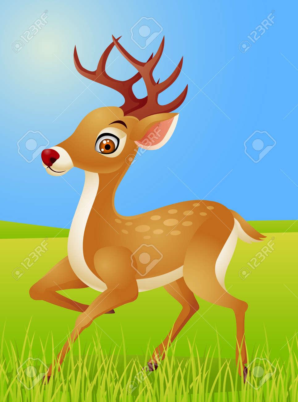 Deer cartoon Stock Vector - 13496483