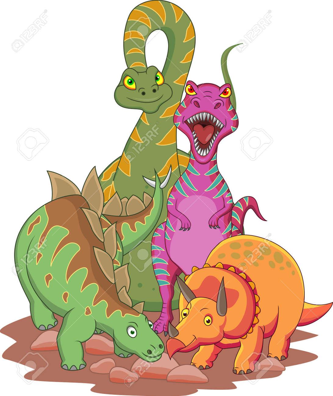 Dinosaur cartoon Stock Vector - 13496555