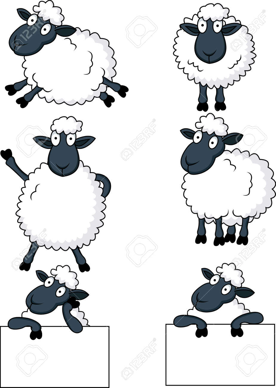 sheep cartoon Stock Vector - 13496489