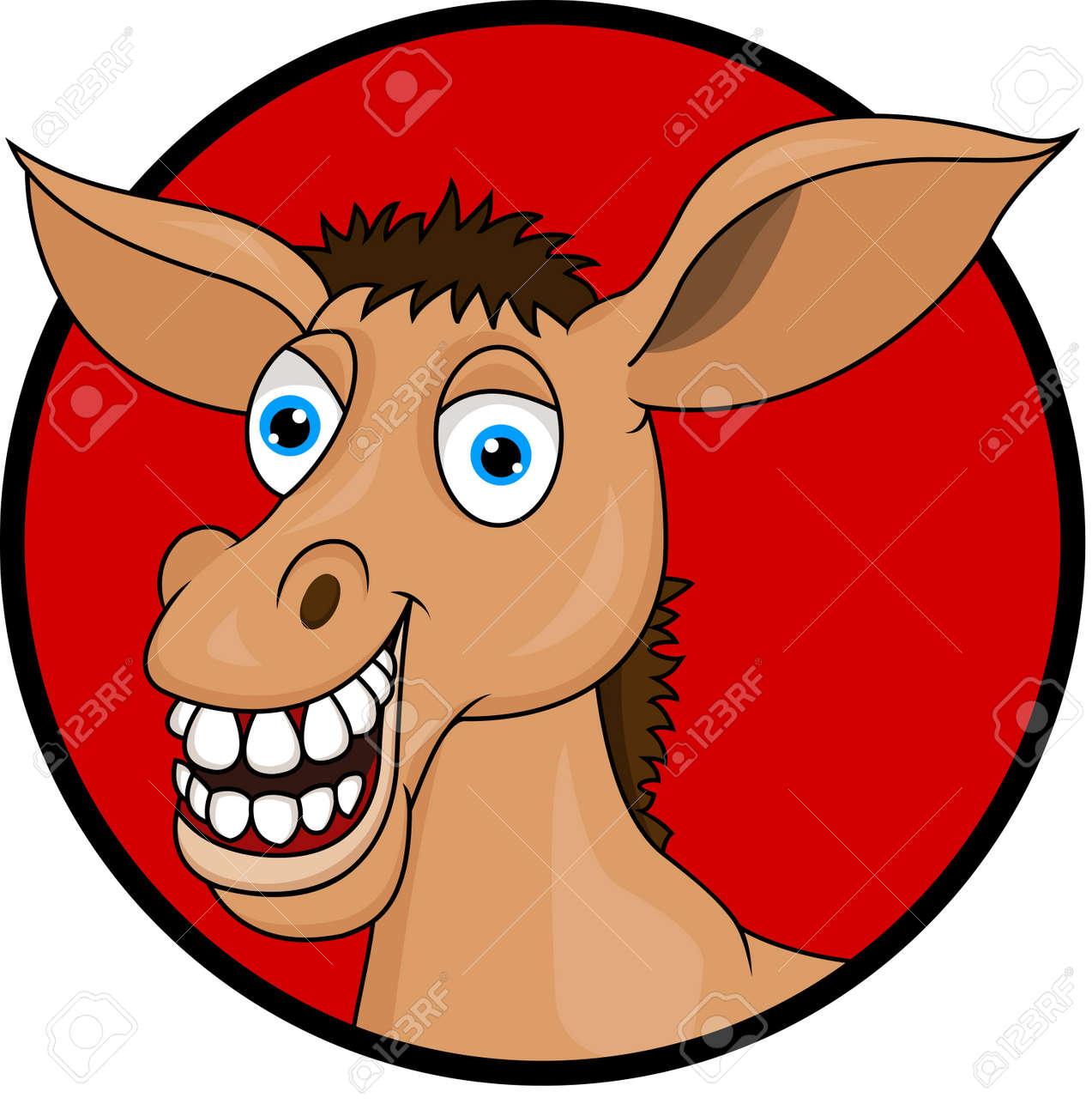Horse donkey cartoon Stock Vector - 13496495