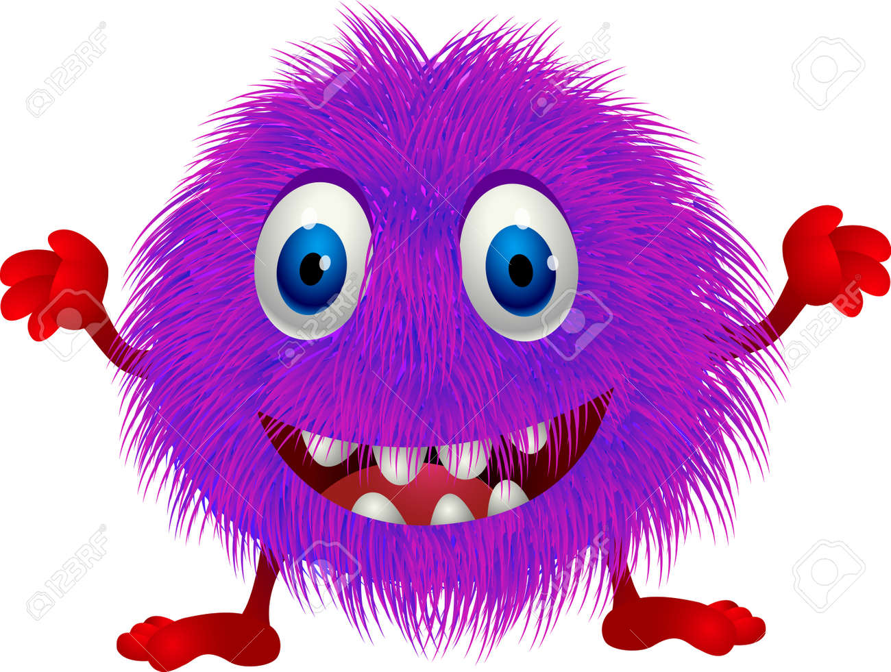 Hairy Purple Cartoon Royalty Free Cliparts Vectors And Stock Illustration Image 13496829