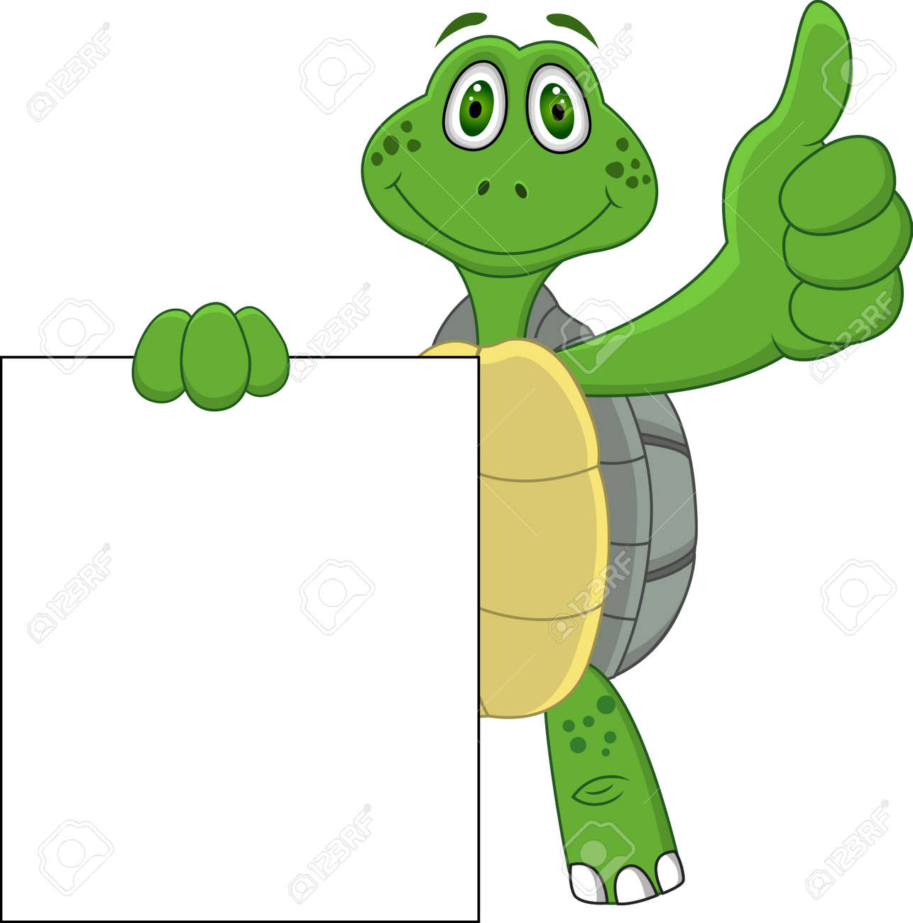 Turtle Cartoon With Thumb Up Royalty Free Cliparts Vectors And