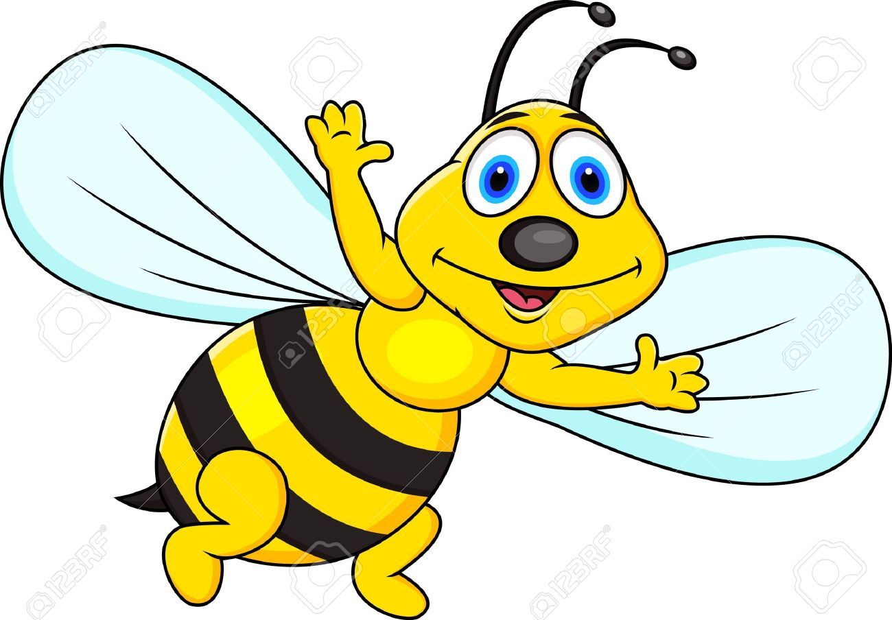 Funny bee cartoon Stock Vector - 13495346