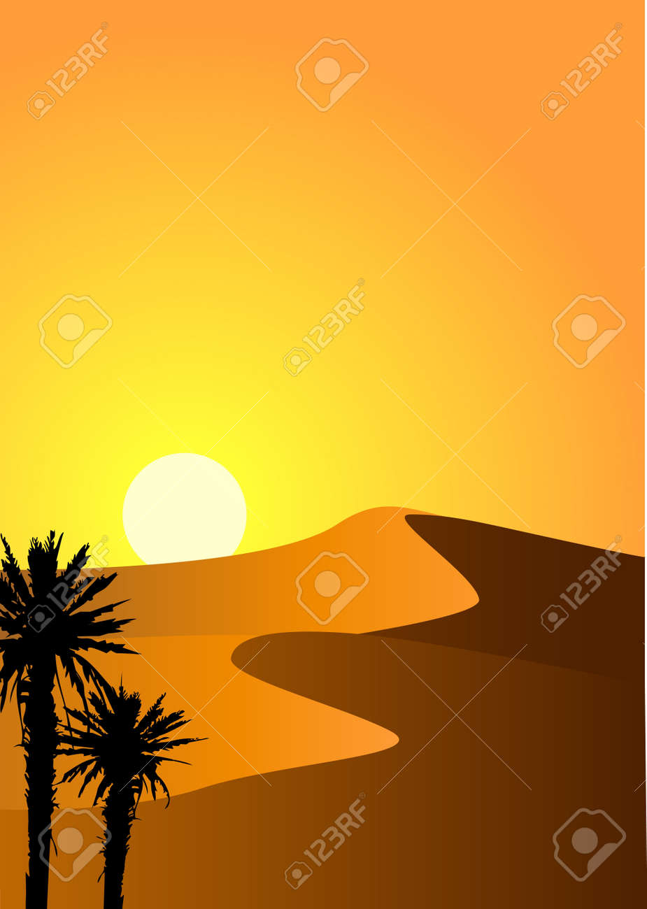 Desert background Stock Vector - 13726418