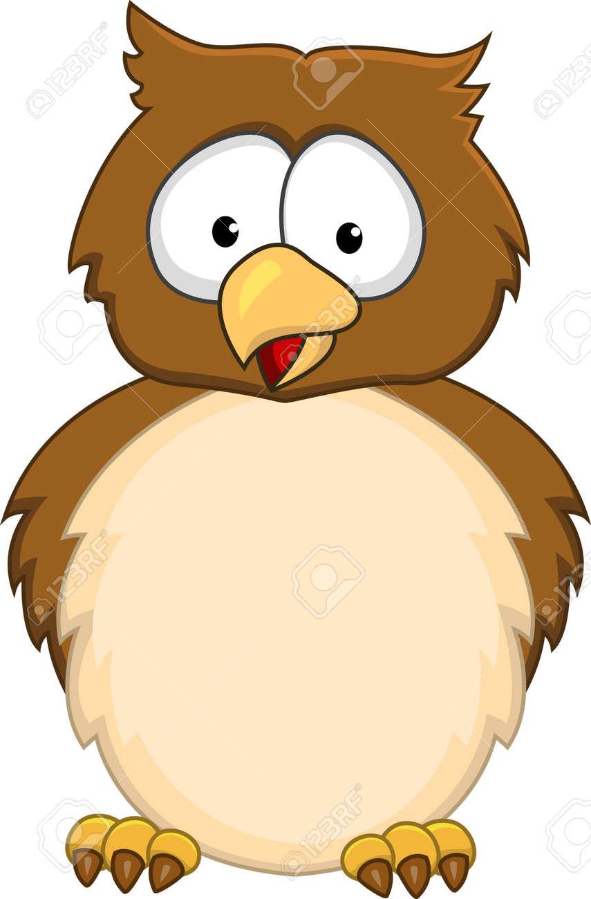 Funny owl cartoon Stock Vector - 13778840