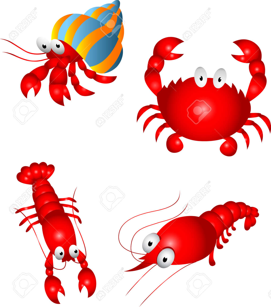 Crustacean Character Stock Vector - 13779065