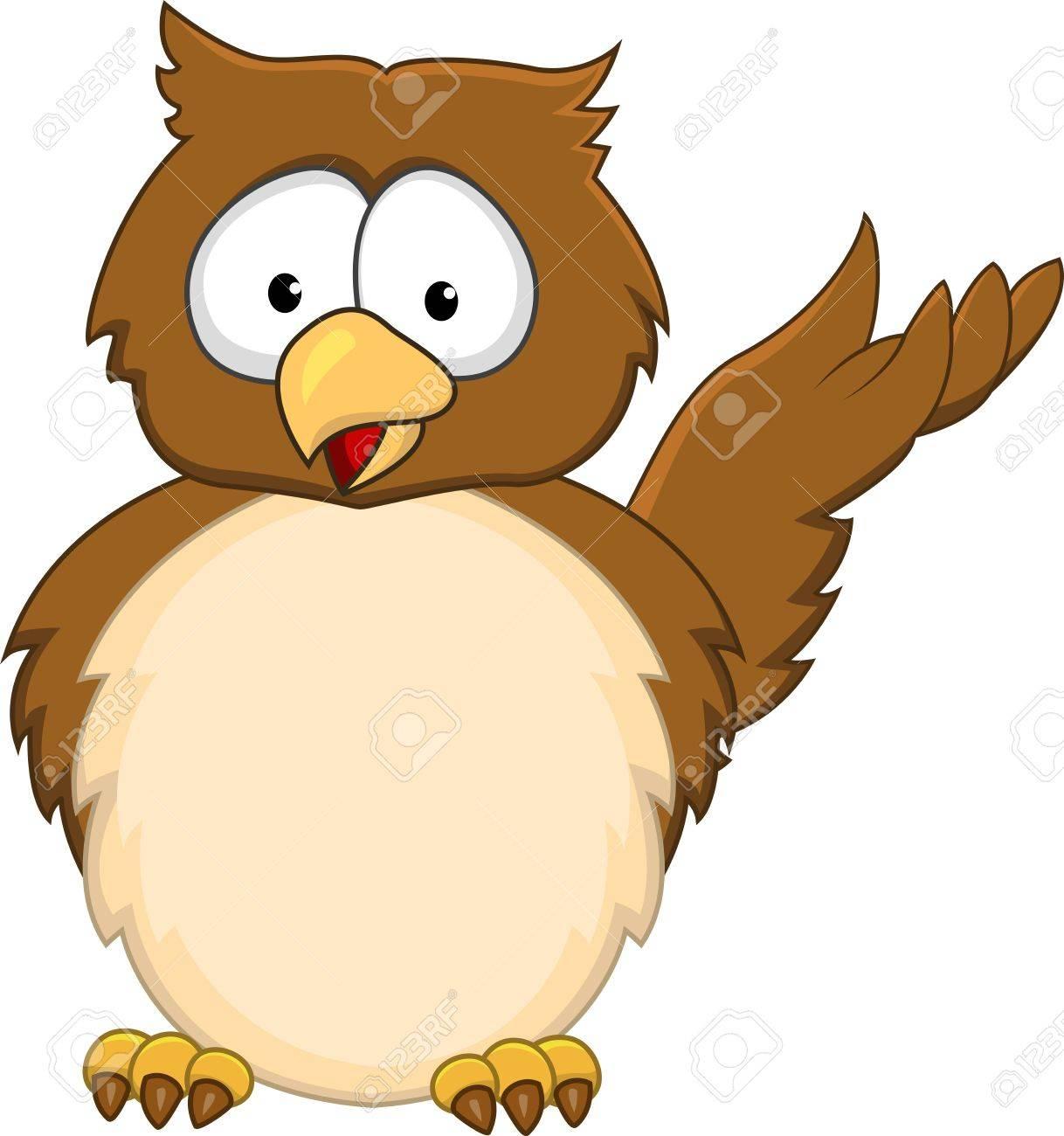 Funny owl cartoon Stock Vector - 13984522