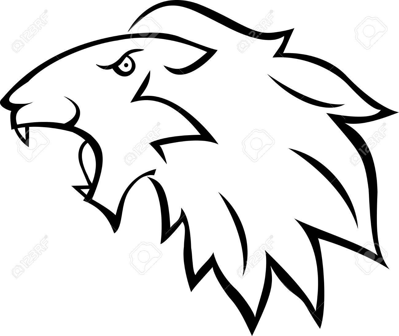 Lion tattoo Stock Vector - 13984201