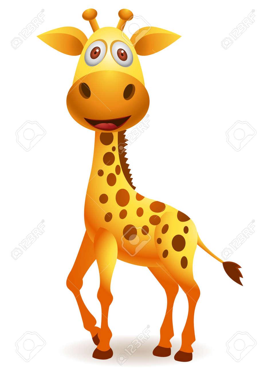 vector illustration of Giraffe cartoon - 14325305