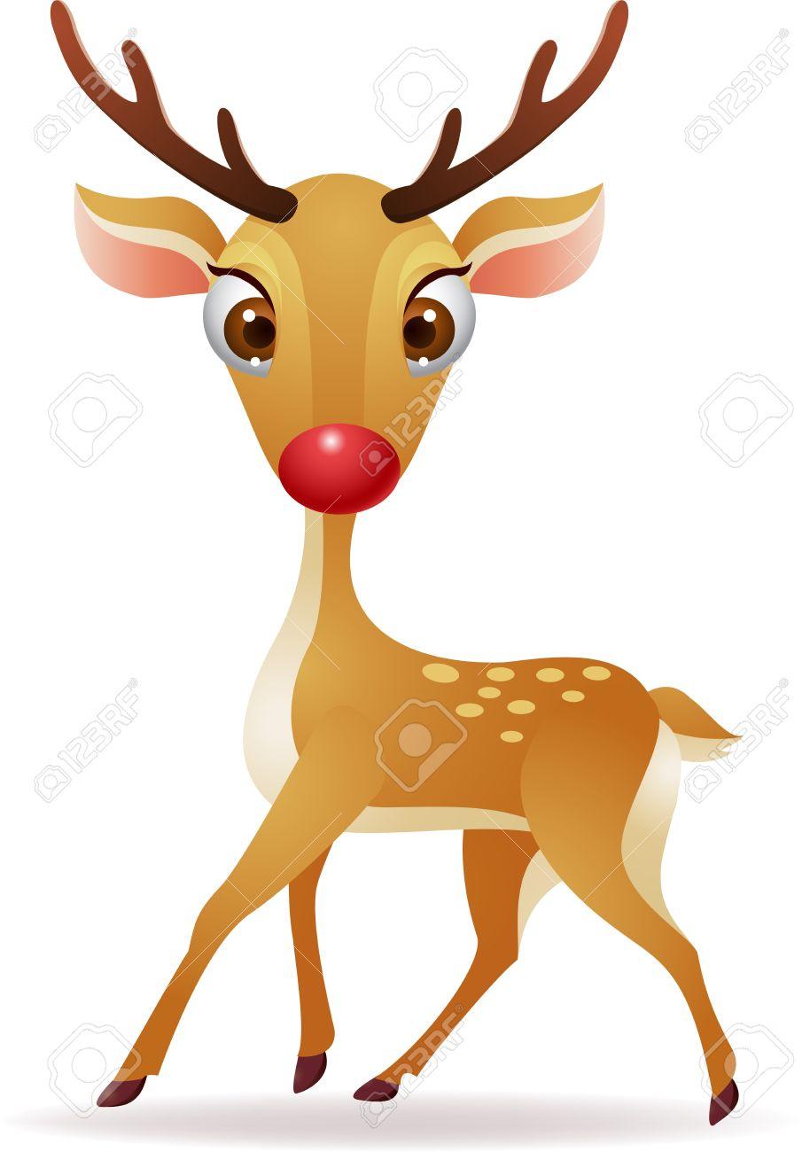 illustration of Red nose deer Stock Vector - 14320718
