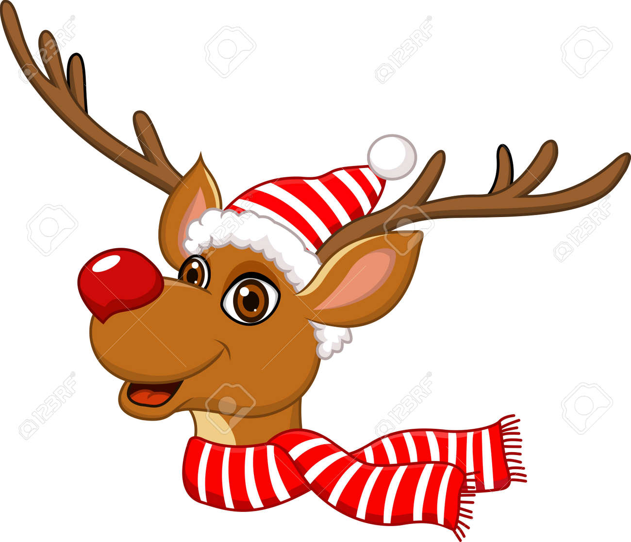 - Illustration Of Cute Christmas Reindeer Royalty Free Cliparts