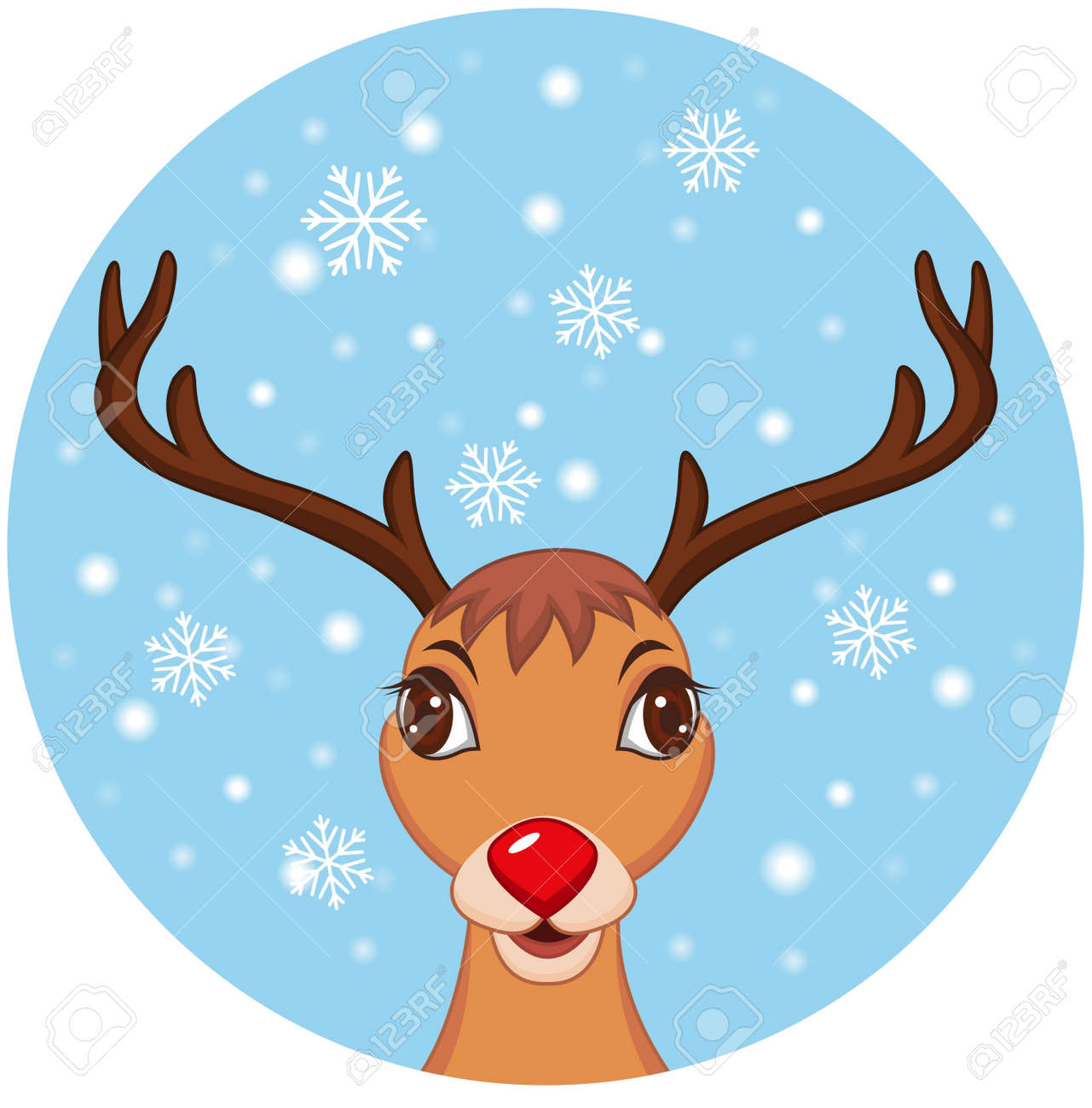 illustration of Cute Christmas Reindeer Stock Vector - 14320738