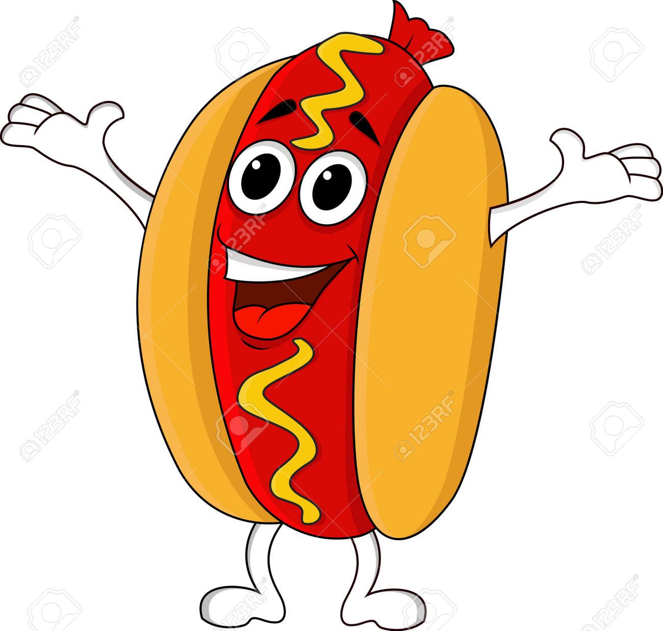 Hot dog cartoon character - 14662180