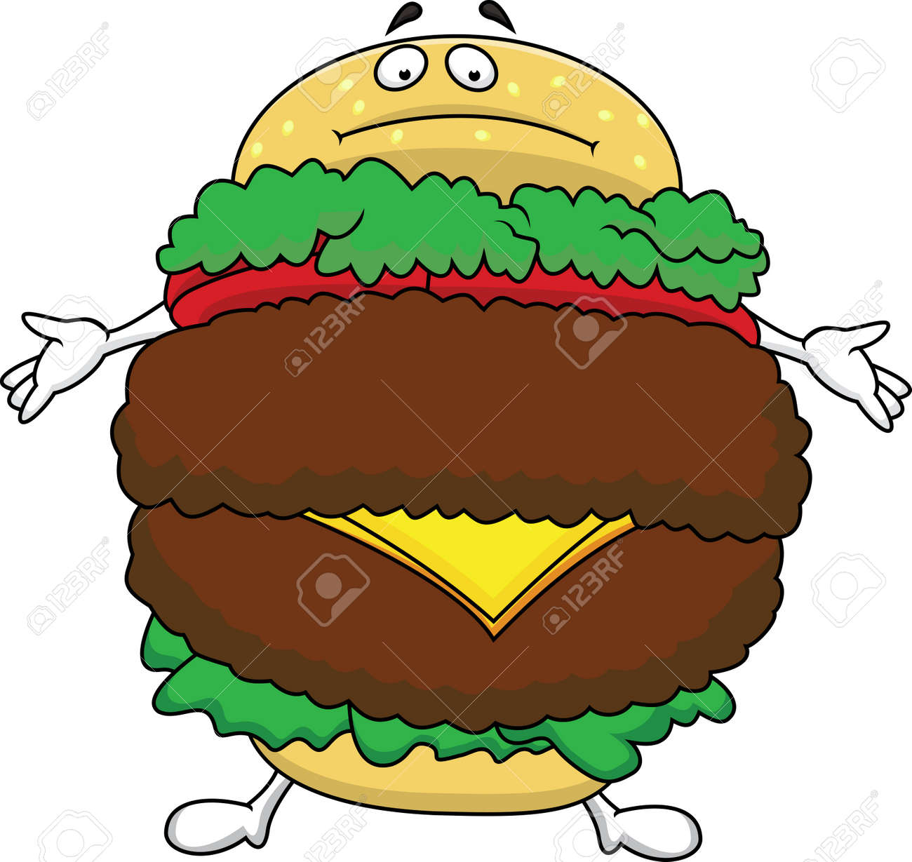 Fat burger cartoon character - 14662186
