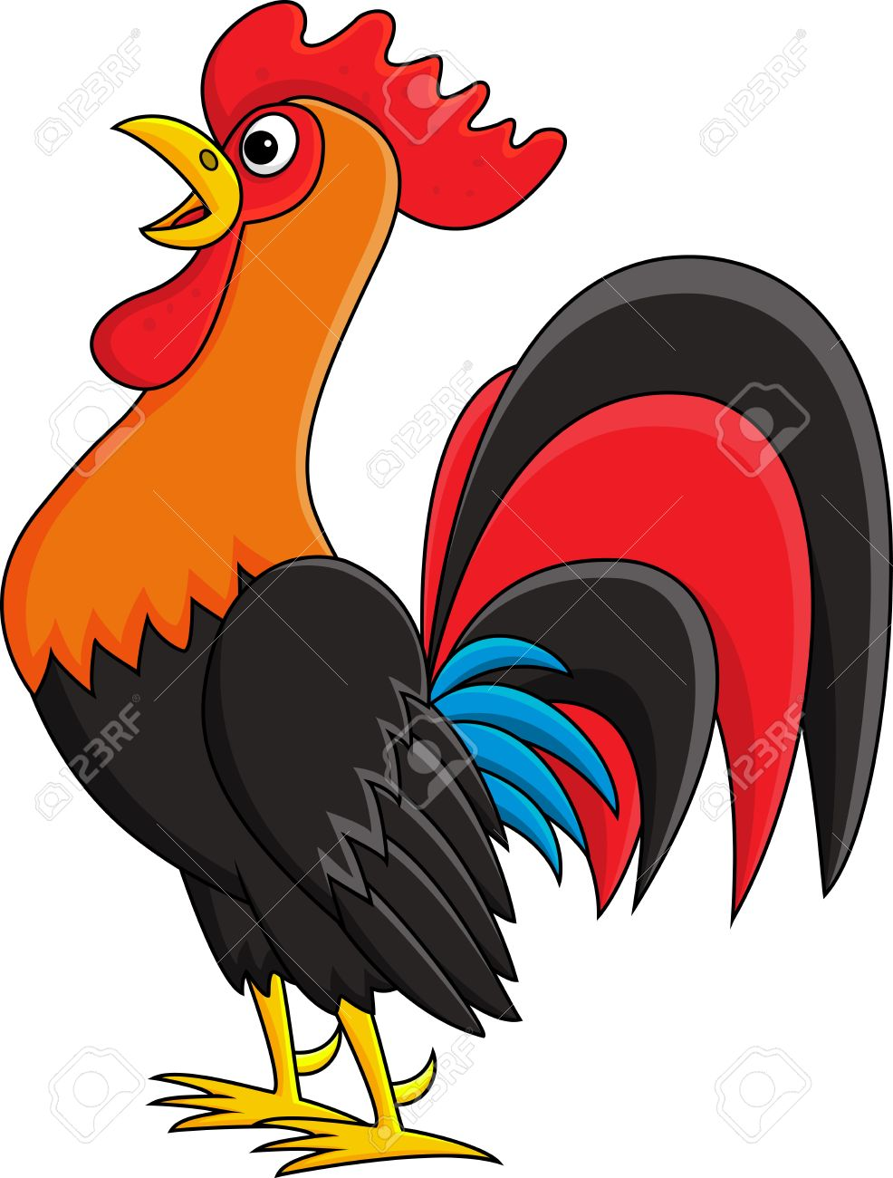 rooster cartoon royalty free cliparts vectors and stock