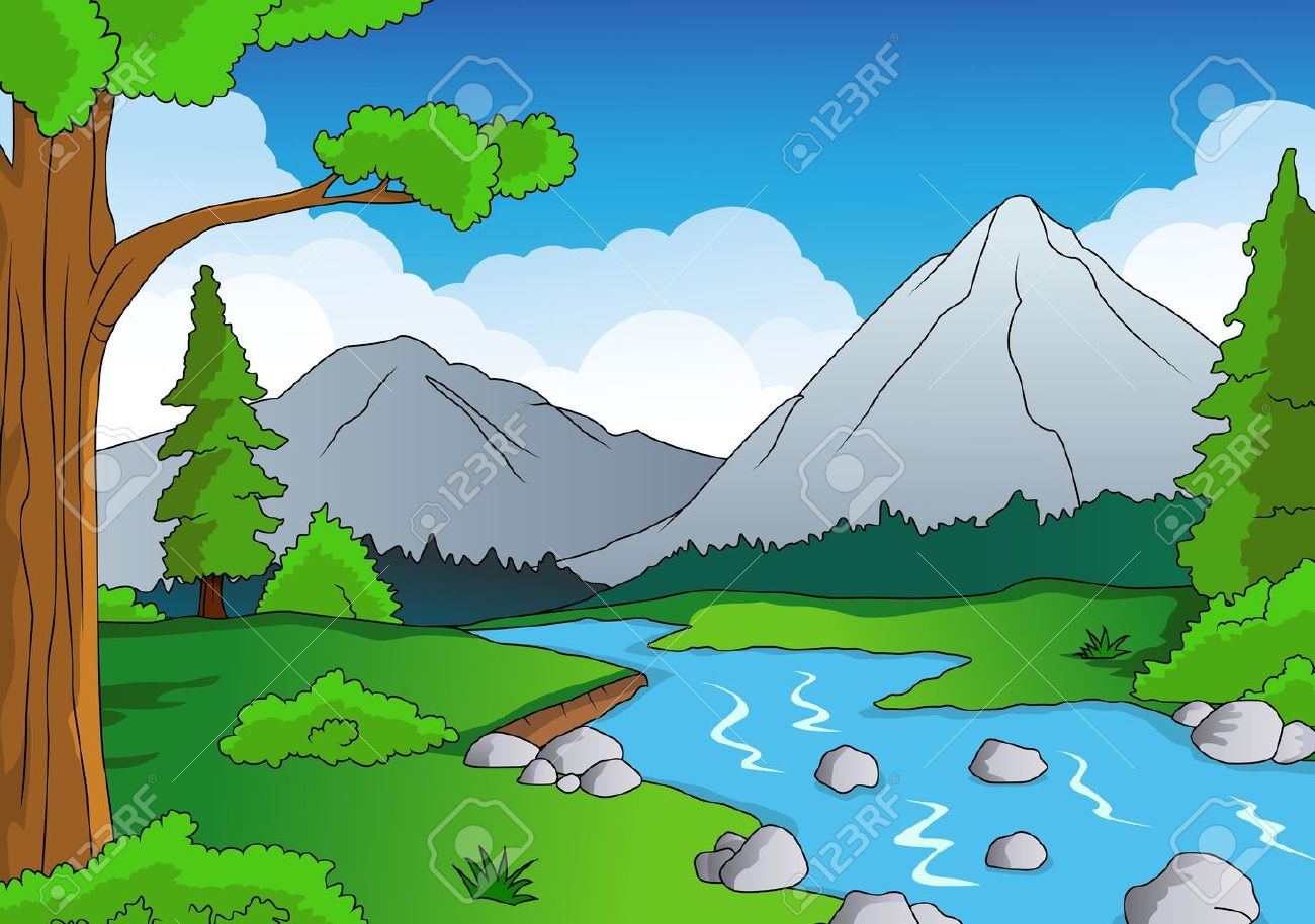 Nature forest background - 15234357