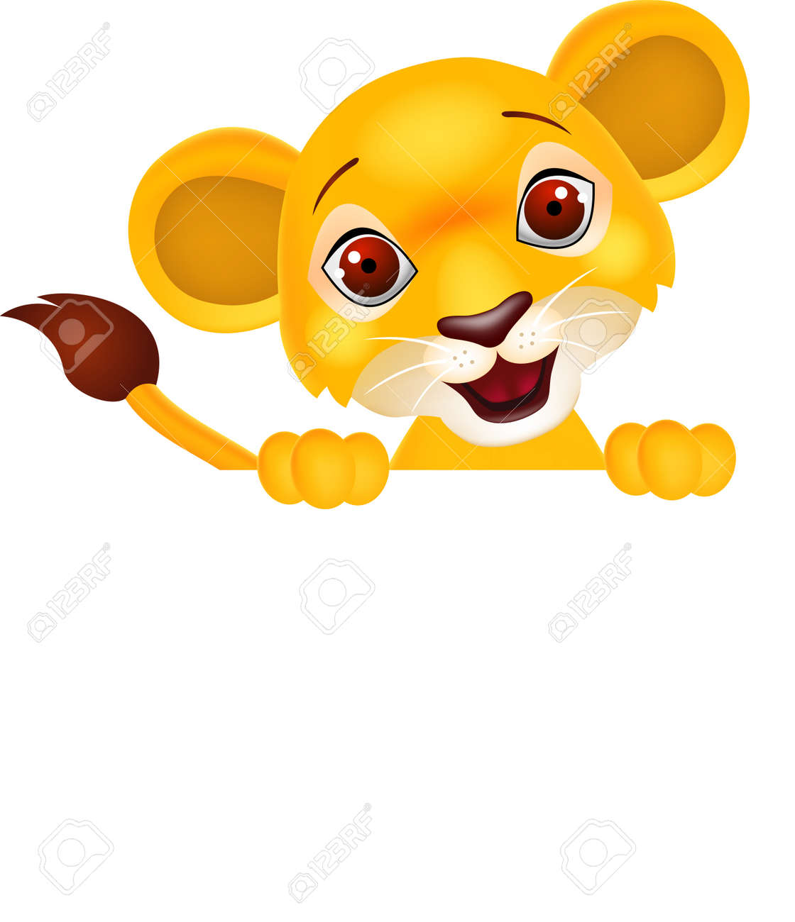 Lion with blank sign - 15234359
